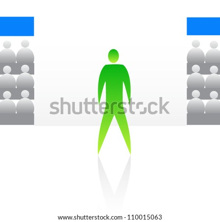 Abstract sport symbol such a logo - stock vector