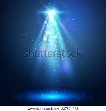 Abstract  spotlight background. - stock vector