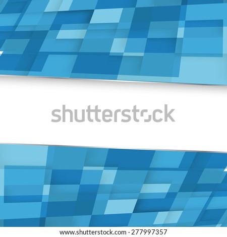 Abstract square blue background. Vector. Clip-art - stock vector