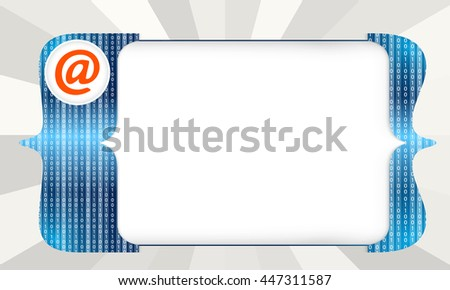 Abstract square brackets for entering text and email icon - stock vector