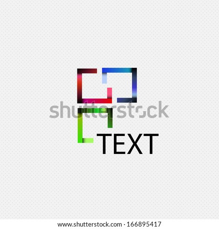 Abstract square logo - stock vector