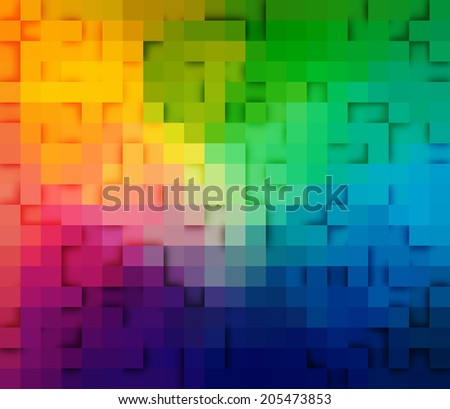 Abstract square mosaic. Background design for poster, flyer, cover, brochure. - stock vector