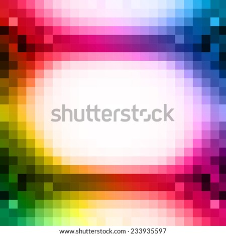 abstract square pixel mosaic background, easy editable - stock vector