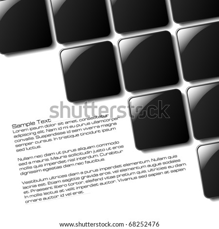 Abstract Squares design for use in a poster, brochure or part of a design - stock vector