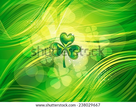 abstract  st patrick clover background vector illustration - stock vector