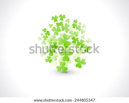 abstract st patrick flying clover vector illustration - stock vector