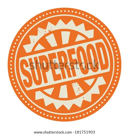 Abstract stamp or label with the text Superfood written inside, vector illustration - stock vector