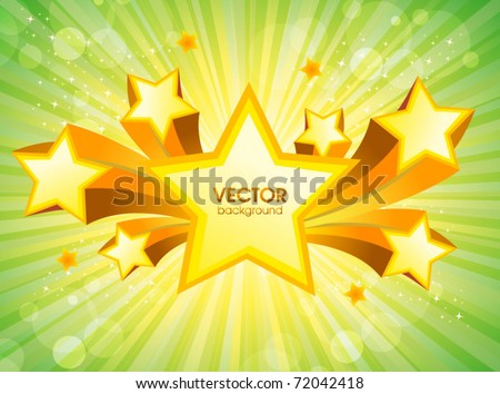 abstract star background - stock vector