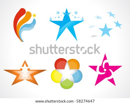 abstract star logo template icons vector illustration - stock vector