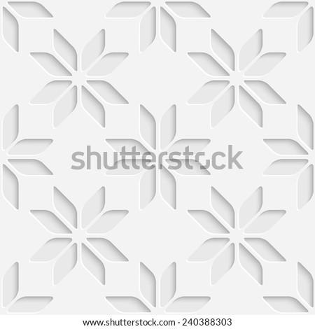 Abstract Star Pattern. Vector Seamless Wallpaper. White Regular Texture - stock vector