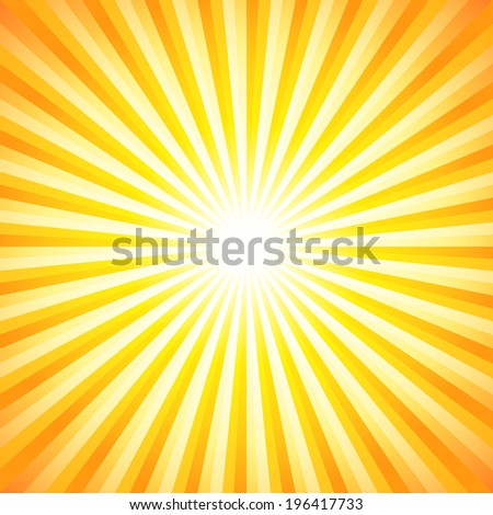 Abstract starburst background - stock vector
