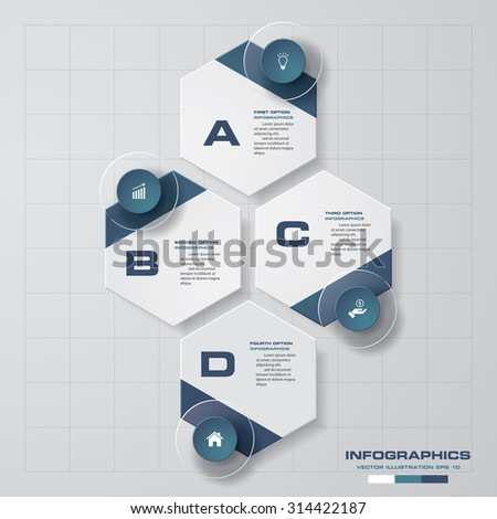 Abstract 4 steps infographics background. Number banners template/tags or website layout. Vector. - stock vector
