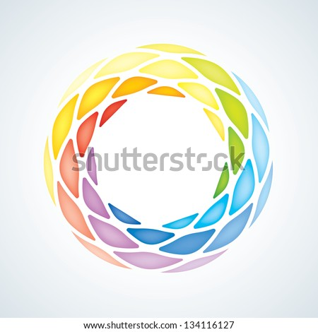 Abstract Stone Symbol. Icon - stock vector