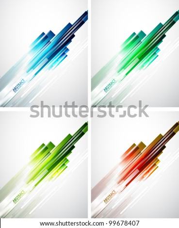 Abstract straight lines background - stock vector