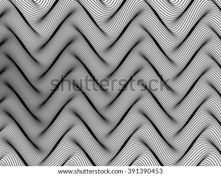 Abstract striped background. Rhythmic colorful lines. EPS10 with transparency. Grey background. Abstract composition with curve lines. Abstract 3d effect. Illusion of three dimensional surface. - stock vector