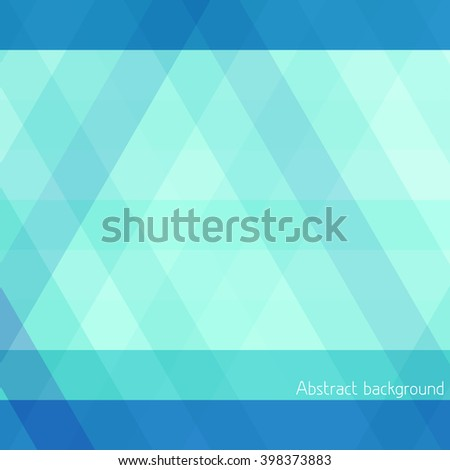 Abstract striped geometrical background with blue and turquoise horizontal and diagonal stripes. Simple vector graphic pattern - stock vector