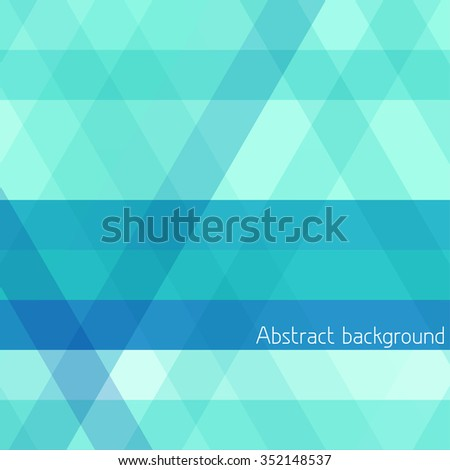 Abstract striped geometrical background with turquoise horizontal and diagonal stripes. Vector graphic pattern - stock vector