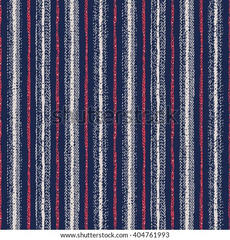 Abstract striped textured seamless pattern. - stock vector