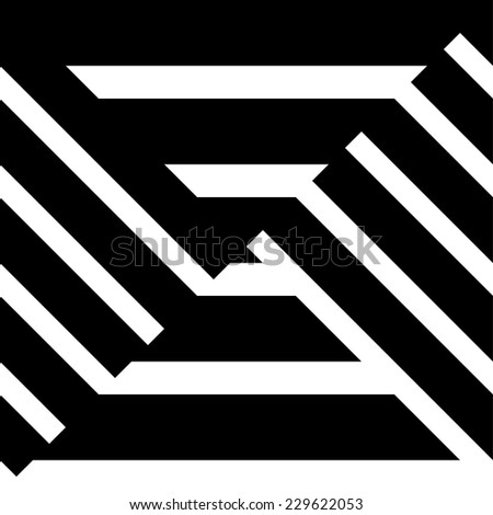 Abstract stripes pattern.  - stock vector