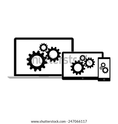 Abstract style modern gadgets - stock vector