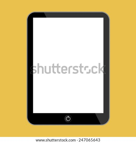 Abstract style modern tablet with blank screen. Template for any content - stock vector