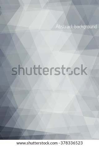 Abstract subtle grey background textured by triangles. Vector graphic pattern - stock vector