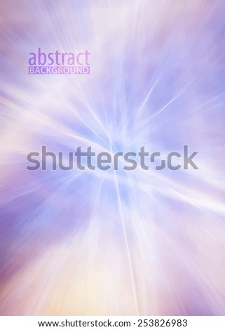 Abstract subtle lilac pattern with motion blur effect. Vector background - stock vector