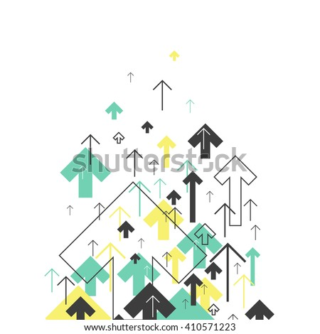 Abstract Success Concept. Growing arrows Illustration. Motion Up. Successful Background Cover Design for annuals reports, brochures, etc - stock vector