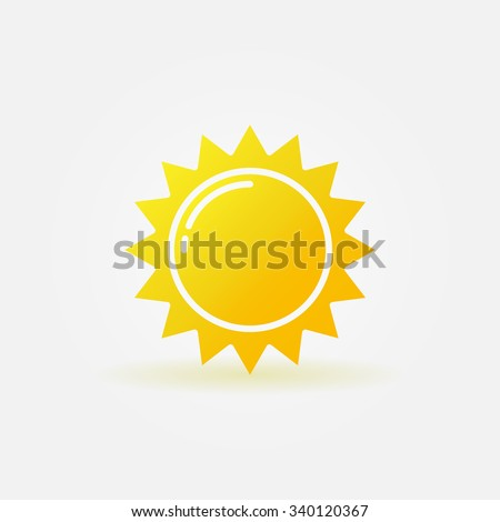 Abstract sun icon - vector sun star logo element - stock vector