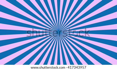 Abstract sunbeams background - vector illustration. Illustration shiny sunbeams. Bright sunbeams on blue background. Abstract bright background - vector. - stock vector