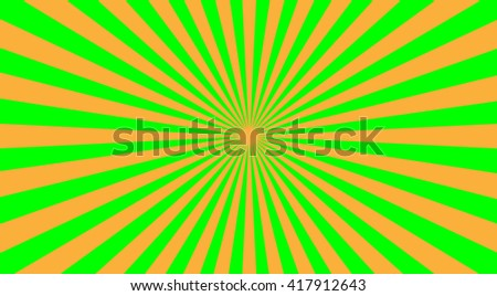 Abstract sunbeams background - vector illustration. Illustration shiny sunbeams. Bright sunbeams on green background. Abstract bright background - vector. - stock vector