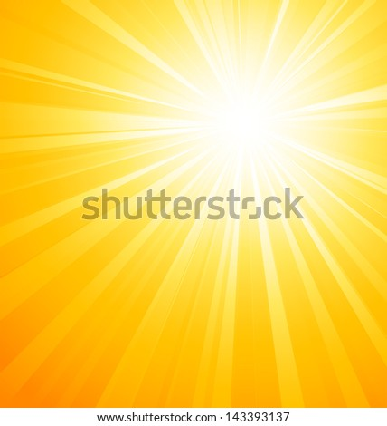 Abstract sunny rays background - stock vector