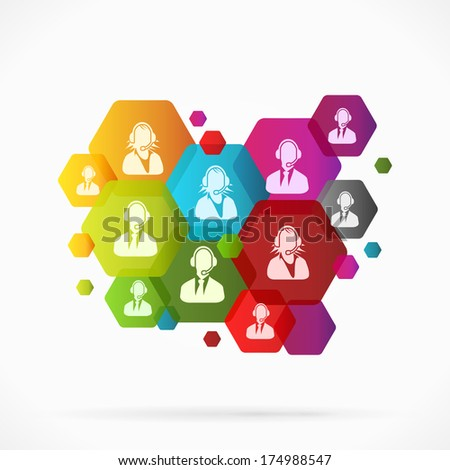 Abstract support background vector illustration - stock vector