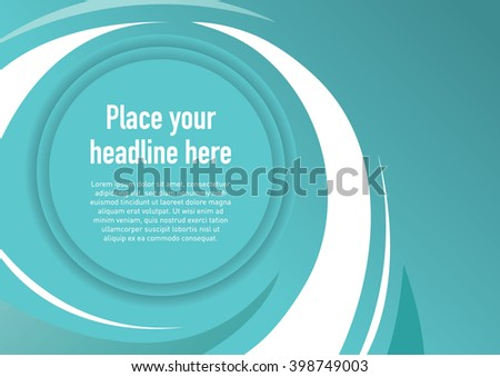 Abstract swirl background template design - stock vector