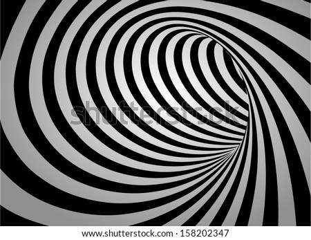 Abstract swirl black and white background - stock vector