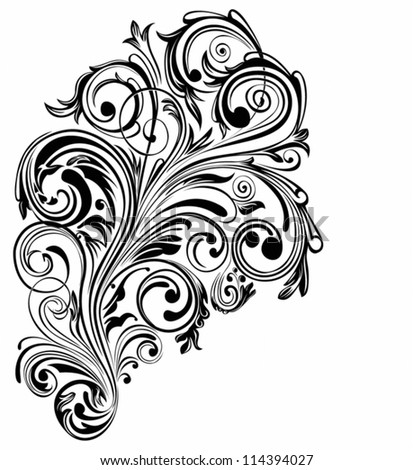 abstract swirl element - stock vector