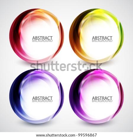 Abstract swirl set - stock vector
