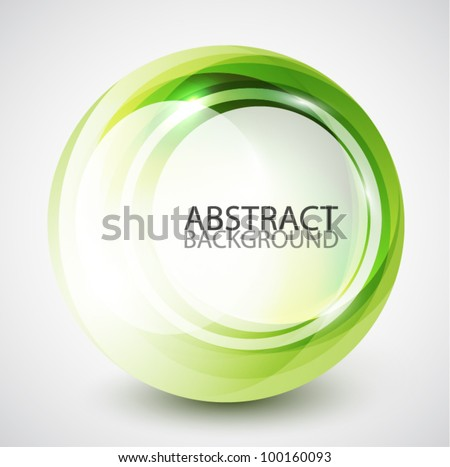 Abstract swirl sphere background - stock vector