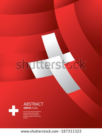 Abstract Switzerland, Swiss Flag (vector Art) - stock vector