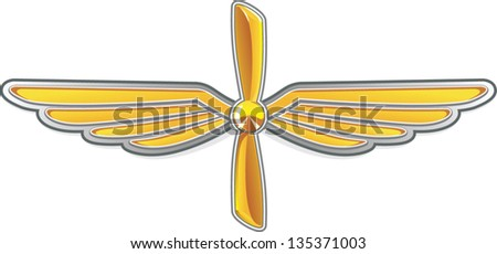 abstract symbol of aviation - stock vector
