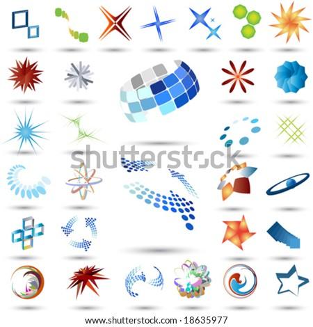 Abstract symbol set - stock vector