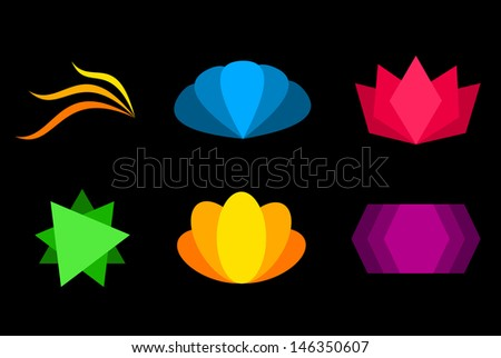Abstract symbols - stock vector