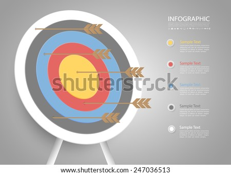 Abstract Target Template. Can be used for workflow layout, banner, diagram, web design, infographic Vector Eps10 - stock vector
