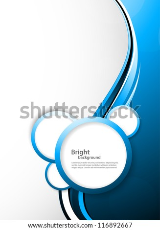Abstract tech background with circles - stock vector