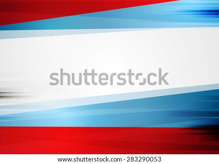 Abstract tech bright background. Vector russian colors design - stock vector