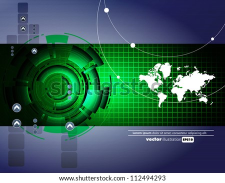 Abstract technical background - stock vector