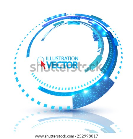 Abstract techno circle banner.  Vector illustration - stock vector