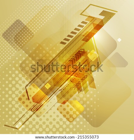 Abstract techno design with arrows. Vector illustration. - stock vector