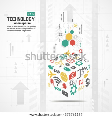 Abstract technological background - stock vector
