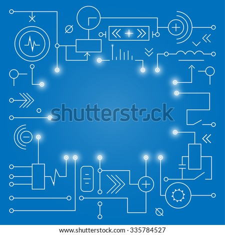 Abstract technology background. Concept technologies digital. Print web and mobile applications. Technical design vector illustration. - stock vector